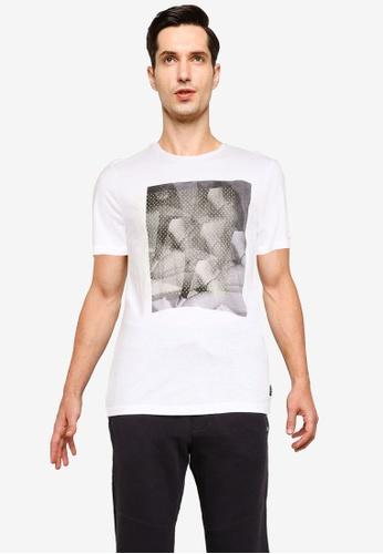 BLEND white Graphic Print Crew Neck T-Shirt 1B777AA8EA9ACFGS_1