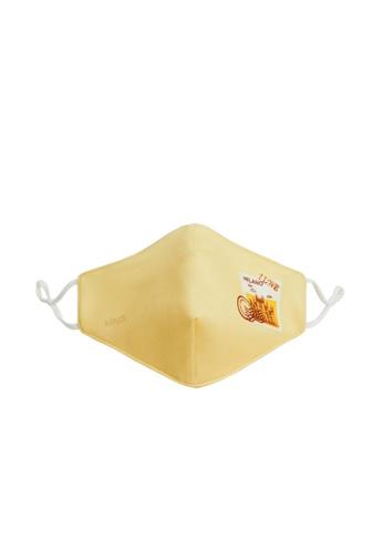 Mango yellow Reusable Homologated Facemask 05811ES18BDC7DGS_1