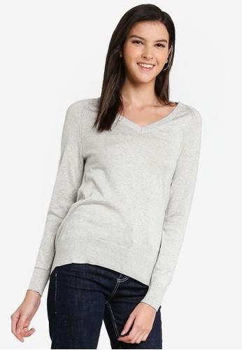 Banana Republic grey V-Neck Sweater D4073AA08AA776GS_1