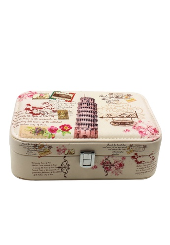 Venice Jewelry beige Fashionable Printed Jewelry box JBPS-LP-01 VE564AC46SGFPH_1