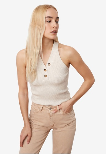 Trendyol beige Knitted Button Detail Top F6F2CAA6E9ECA0GS_1