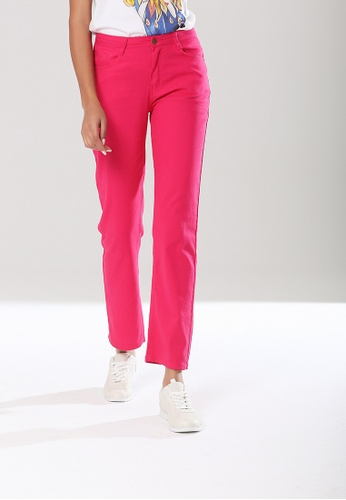 London Rag pink Skinny Fit Denim Jeans 0795CAA82B944EGS_1