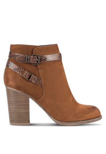 Dorothy Perkins brown Tan Adda Buckle Strap Boots DO816SH27FAAMY_1