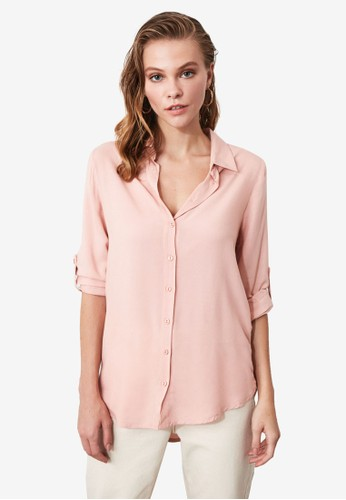 Trendyol pink Basic Shirt CBDF3AADC4FA67GS_1
