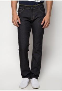 Neon Waistband Slim Jeans