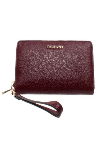 MICHAEL KORS red Michael Kors Women Mercer Continental Wristlet OXBLOOD 32F6GM9E9L-610 AB3D1AC3AA3CCBGS_1
