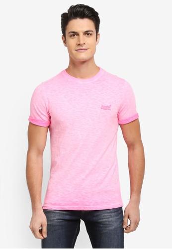 Superdry pink Orange Label Low Roller Tee D11C7AAB097126GS_1