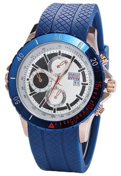 Newyork Army Men's Blue Silicon strap sports Watch NYA3222