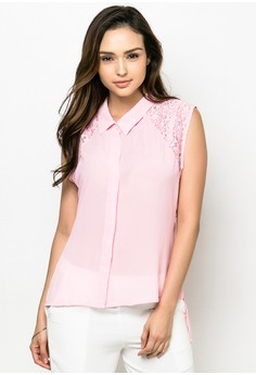 Collared Plus Size Blouse