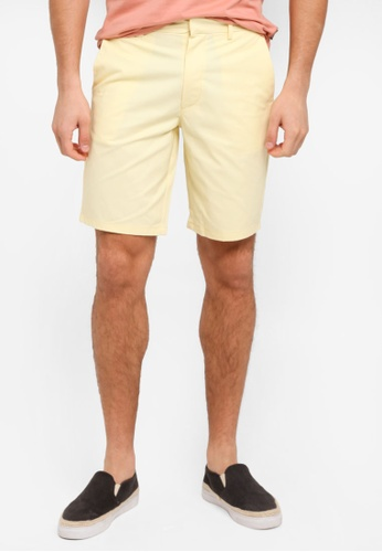 Burton Menswear London yellow Chino Shorts BU964AA0T1I8MY_1