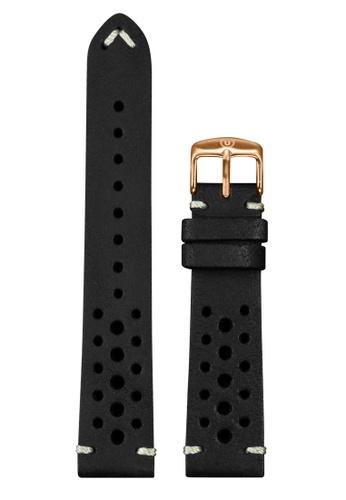 Undone black Undone Rally Black Calf Leather Strap 20mm (Rose Gold Buckle) UN712AC2VEKKHK_1