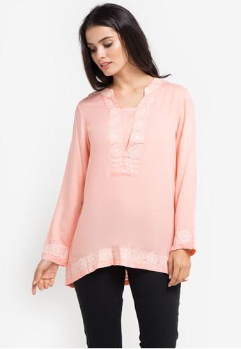 Bodytalk pink Gossamer Tunic Shirt 3563CAA58343F1GS_1