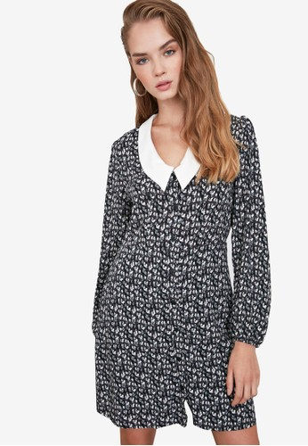 Trendyol multi Floral Print Collared Dress B451FAAECBEFCEGS_1