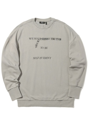 Fivecm grey Slogan sweatshirt 4A550AA66BCAEDGS_1