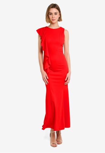 5bf0a99dc0f Shop WALG Ruffle Detail Maxi Dress Online on ZALORA Philippines