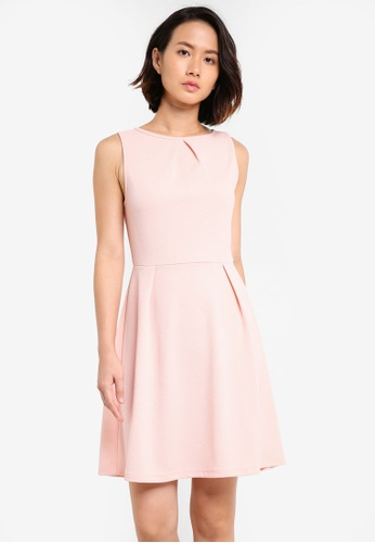 ZALORA pink Essential Pleat Detail Dress AE68DAA7812EF7GS_1