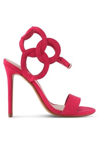 Mango pink Laser-Cut Design Sandals B709CSHFD65DD8GS_1