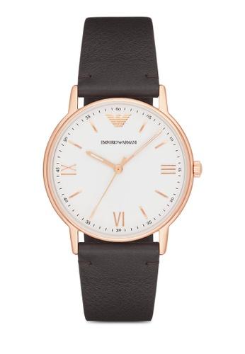 Emporio Armani brown Armani Kappa Brown Leather Watch AR024AC32ZQHMY_1