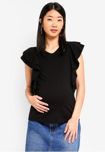 Spring Maternity black Maternity Crissy Top FA745AA1DFC9EDGS_1