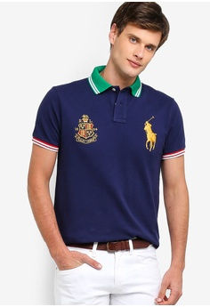 4ea0d6b8ac90 Polo Ralph Lauren navy Short Sleeve Basic Mesh Polo Shirt 6DEA9AACC44F2DGS 1