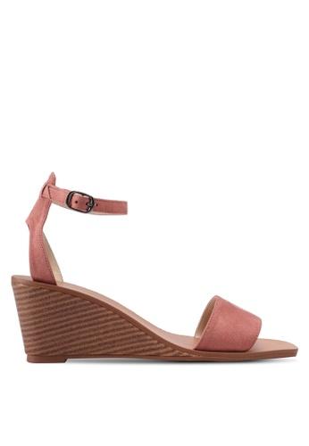ZALORA pink Single Strap Ankle Wedges 26515SHB6F71D6GS_1