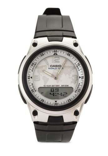 Casio multi Casio Men's Quartz Black Watch CA843AC97ADEMY_1