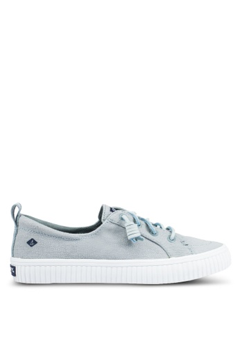 Sperry blue Crest Vibe Creeper Linen Sneakers SP132SH0RUUSMY_1