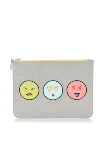 PLAYNOMORE grey PLAYNOMORE FACES CLUTCH 209AAAC69B5226GS_1
