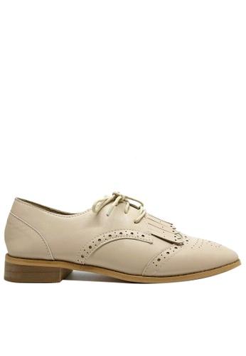 Twenty Eight Shoes 經典方頭流蘇牛津鞋T0753-11 9A7B6SH3DF5ACBGS_1