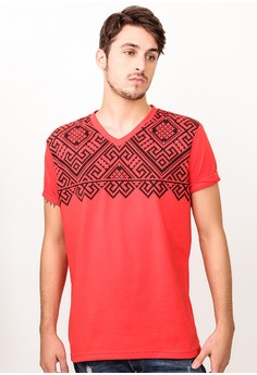 V-Neck with Print T-shirt