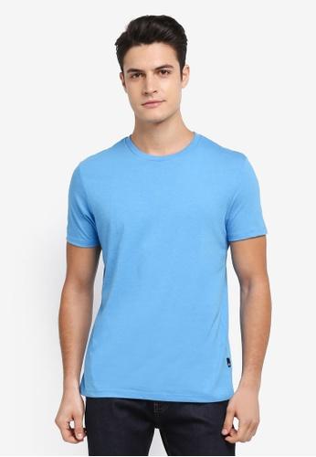 Burton Menswear London 藍色 Cornflower Blue Crew Neck T-Shirt 11ABCAA8CA5F61GS_1