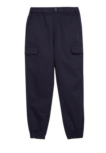 Giordano navy Junior Jogger Woven Cargo 8512CKA671EC81GS_1