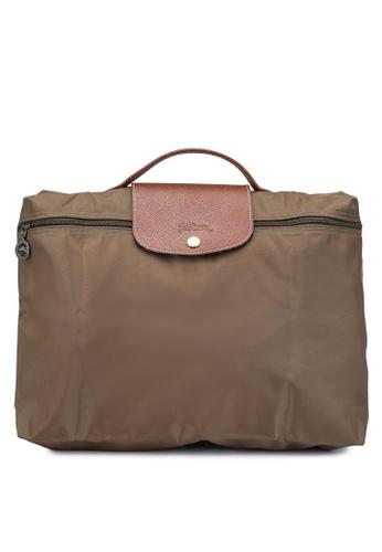 LONGCHAMP brown Le Pliage Briefcase (zt) 25C7EAC4CA7B1EGS_1