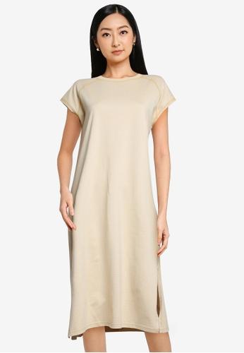 niko and ... beige Midi T-Shirt Dress F4EA1AA66A017EGS_1