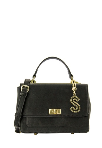 SEMBONIA black SEMBONIA Synthetic Leather Satchel Bag 45350AC9A7AB69GS_1