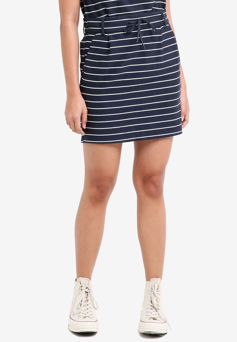 ONLY Blazer Dancer Poptrash Cloud Easy Skirt Strip Striped Navy rBqrX