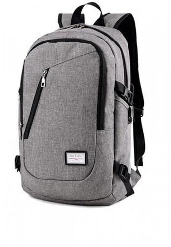 Lucky JX grey External Plug-In Large Outdoor Leisure Shoulder Bag E5E39ACCF56294GS_1