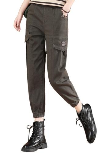 A-IN GIRLS green Elastic Waist Casual Trousers 6B7FBAAA37B323GS_1