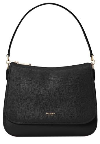 Kate Spade black Kate Spade Polly Medium Convertible Flap Shoulder Bag in Black 512DDACD3DB2F6GS_1