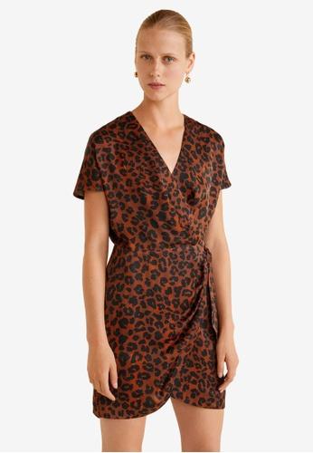 Mango brown Leopard Print Dress 9FCC8AAC2FA4FEGS_1