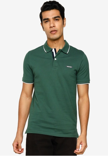 Jack & Jones green London Polo Shirt FA2C4AA93616ACGS_1