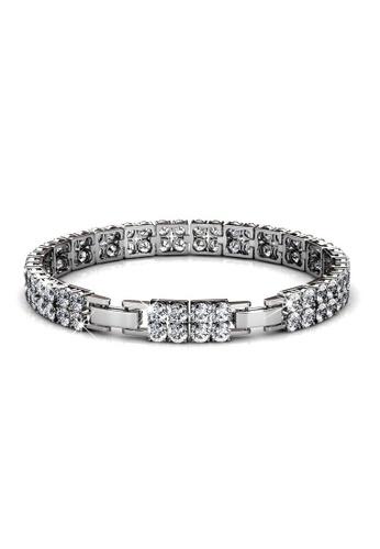 Her Jewellery silver Swarovski® Crystals - Glamour Bracelet (18K White Gold Plated) Her Jewellery HE581AC0RDOWMY_1