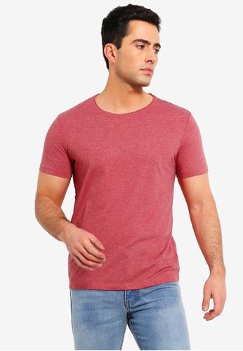 OVS 紅色 短袖圓領T恤 4A716AA575F87BGS_1