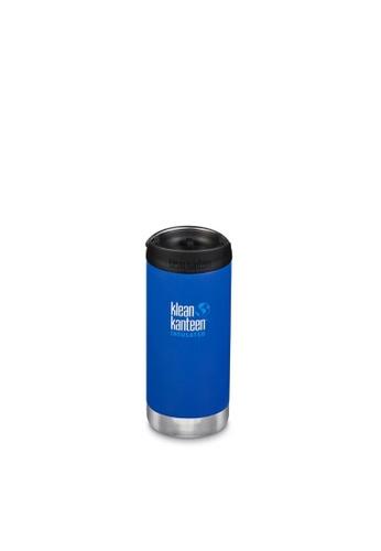 Klean Kanteen blue Klean Kanteen Tkwide 12Oz Water Bottle (With Cafe Cap) (Deep Surf) 9E526AC7970BEAGS_1