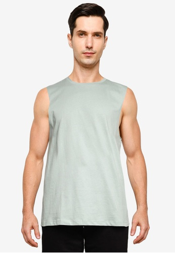 Cotton On green and blue Essential Muscle Tank 24863AAEA75829GS_1