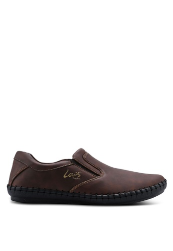 Louis Cuppers brown Sewn Slip Ons 351B7SH84060F9GS_1