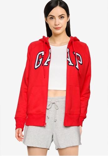 GAP red Gap Classic Zip Hoodie 21958AA4EDBE6EGS_1