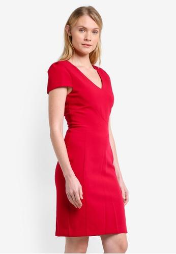Mango red Seam Bodycon Dress MA193AA0ROQVMY_1