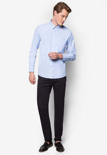 Pacolino blue Casual Smart Long Sleeve Shirt PA995AA53CPEMY_1