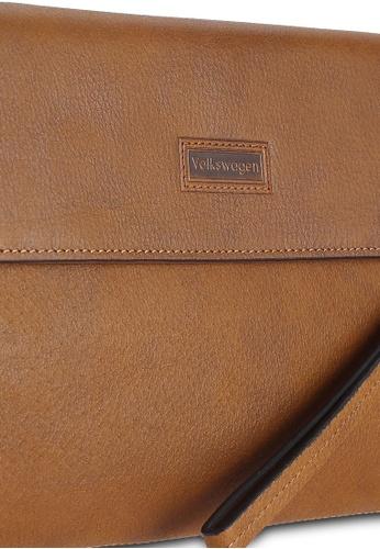 Volkswagen brown Leather Clutch VO089AC0RH51MY_1